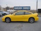 2002 Yellow Chevrolet Cavalier LS Sport Coupe #76804333