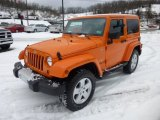 2012 Jeep Wrangler Sahara 4x4 Front 3/4 View