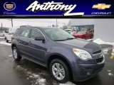 2013 Atlantis Blue Metallic Chevrolet Equinox LS AWD #76804543