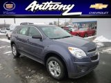 2013 Atlantis Blue Metallic Chevrolet Equinox LS AWD #76804541