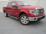 2013 Ruby Red Metallic Ford F150 Lariat SuperCrew 4x4 #76773678