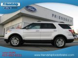 2013 White Platinum Tri-Coat Ford Explorer XLT 4WD #76873599