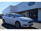 2013 White Platinum Metallic Tri-coat Ford Fusion SE 1.6 EcoBoost #76873701
