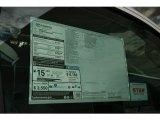 2013 Toyota Tundra Regular Cab 4x4 Window Sticker