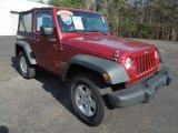 2011 Deep Cherry Red Crystal Pearl Jeep Wrangler Sport S 4x4 #76874102