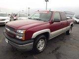 2004 Sport Red Metallic Chevrolet Silverado 1500 Z71 Extended Cab 4x4 #76929048