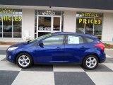 2012 Sonic Blue Metallic Ford Focus SE Sport 5-Door #76929024