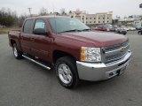 2013 Deep Ruby Metallic Chevrolet Silverado 1500 LT Crew Cab 4x4 #76929120