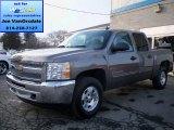 2013 Mocha Steel Metallic Chevrolet Silverado 1500 LT Crew Cab 4x4 #76928737