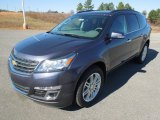 2013 Atlantis Blue Metallic Chevrolet Traverse LT #76929105