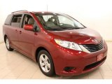 2011 Salsa Red Pearl Toyota Sienna LE #76987593
