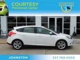 2012 White Platinum Tricoat Metallic Ford Focus Titanium 5-Door #76987268