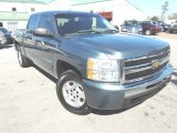 2009 Blue Granite Metallic Chevrolet Silverado 1500 LS Crew Cab #76987476
