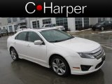 2011 White Platinum Tri-Coat Ford Fusion Sport AWD #76987140
