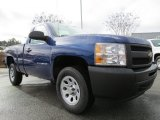2013 Blue Topaz Metallic Chevrolet Silverado 1500 Work Truck Regular Cab #76987456