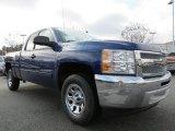 2013 Blue Topaz Metallic Chevrolet Silverado 1500 LS Extended Cab #76987455