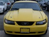 1999 Chrome Yellow Ford Mustang GT Coupe #76987334