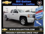 2009 Summit White Chevrolet Silverado 1500 LT Extended Cab #76987774