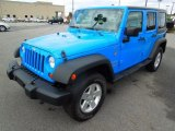 2011 Cosmos Blue Jeep Wrangler Unlimited Sport 4x4 #76987647
