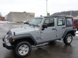 2013 Billet Silver Metallic Jeep Wrangler Unlimited Sport 4x4 #76987543