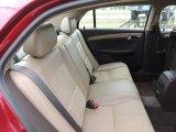 2008 Chevrolet Malibu LT Sedan Rear Seat