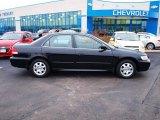 2002 Nighthawk Black Pearl Honda Accord EX Sedan #77042442