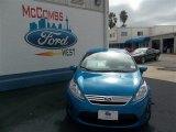 2013 Blue Candy Ford Fiesta SE Sedan #77042490