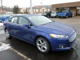 Deep Impact Blue Metallic Ford Fusion in 2013