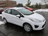 2013 Oxford White Ford Fiesta S Sedan #77042519