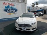 2013 White Platinum Metallic Tri-coat Ford Fusion SE 1.6 EcoBoost #77042462