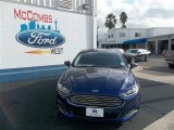 2013 Deep Impact Blue Metallic Ford Fusion S #77042461
