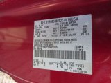 2001 F150 Color Code for Toreador Red Metallic - Color Code: FL