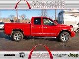 2007 Inferno Red Crystal Pearl Dodge Ram 1500 Laramie Quad Cab 4x4 #77107016