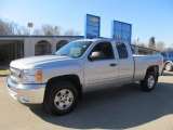 2013 Silver Ice Metallic Chevrolet Silverado 1500 LT Extended Cab 4x4 #77107154