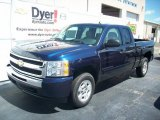 2009 Imperial Blue Metallic Chevrolet Silverado 1500 LT Extended Cab #7695944