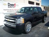 2009 Black Granite Metallic Chevrolet Silverado 1500 LT Crew Cab #7695946