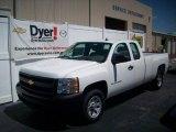 2009 Summit White Chevrolet Silverado 1500 Extended Cab #7695956