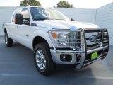 2012 White Platinum Metallic Tri-Coat Ford F250 Super Duty Lariat Crew Cab 4x4 #77107312