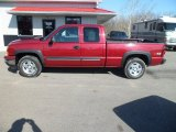 2006 Sport Red Metallic Chevrolet Silverado 1500 LS Extended Cab 4x4 #77107732