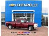 2013 Deep Ruby Metallic Chevrolet Silverado 1500 LT Extended Cab 4x4 #77107436
