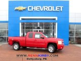 2013 Victory Red Chevrolet Silverado 1500 LT Extended Cab 4x4 #77107435