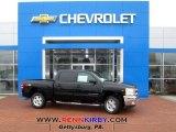 2013 Black Chevrolet Silverado 1500 LT Crew Cab 4x4 #77107434