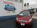 2013 Ruby Red Ford Fiesta SE Sedan #77107078