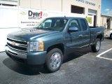 2009 Blue Granite Metallic Chevrolet Silverado 1500 LT Extended Cab #7695953