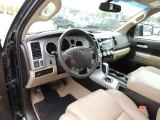 2008 Toyota Tundra Limited Double Cab Beige Interior