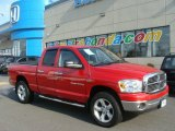 2007 Flame Red Dodge Ram 1500 SLT Quad Cab 4x4 #77167526
