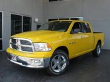 2009 Detonator Yellow Dodge Ram 1500 Big Horn Edition Crew Cab #7692148