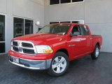 2009 Flame Red Dodge Ram 1500 SLT Crew Cab #7692152