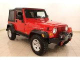 2006 Flame Red Jeep Wrangler Rubicon 4x4 #77167325