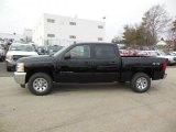 2013 Black Chevrolet Silverado 1500 LS Crew Cab 4x4 #77167493
